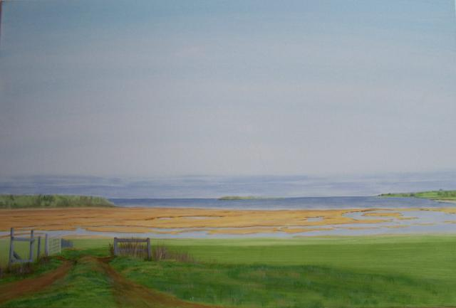 """Salt Marsh-Linden, NS.""  2009"