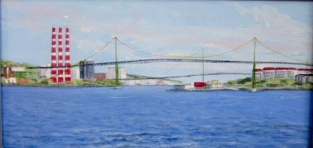 """Halifax Bridges from Bedford Basin"" 2012"